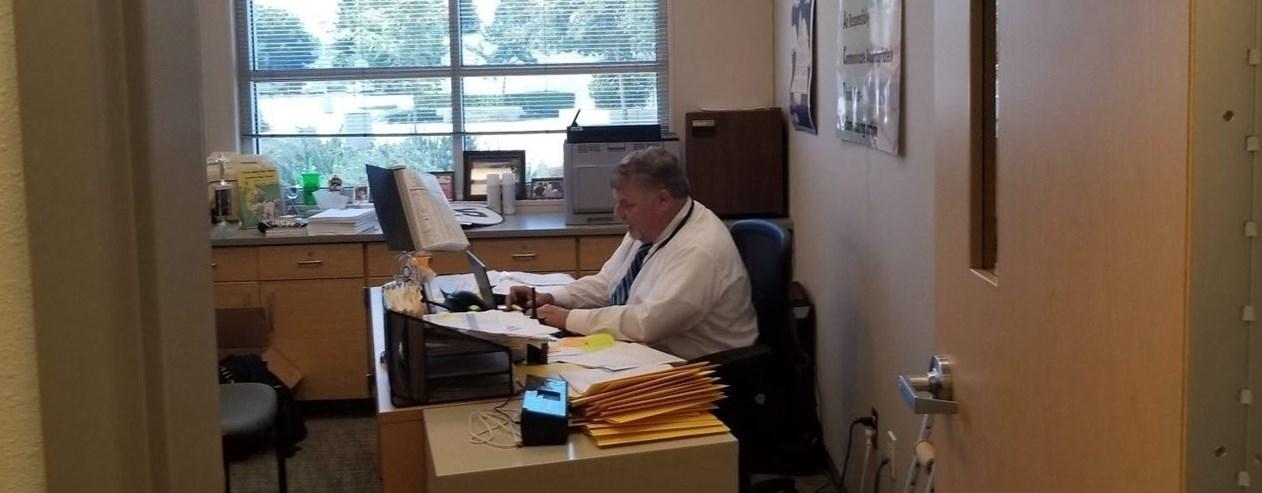 Principal Hard At Work