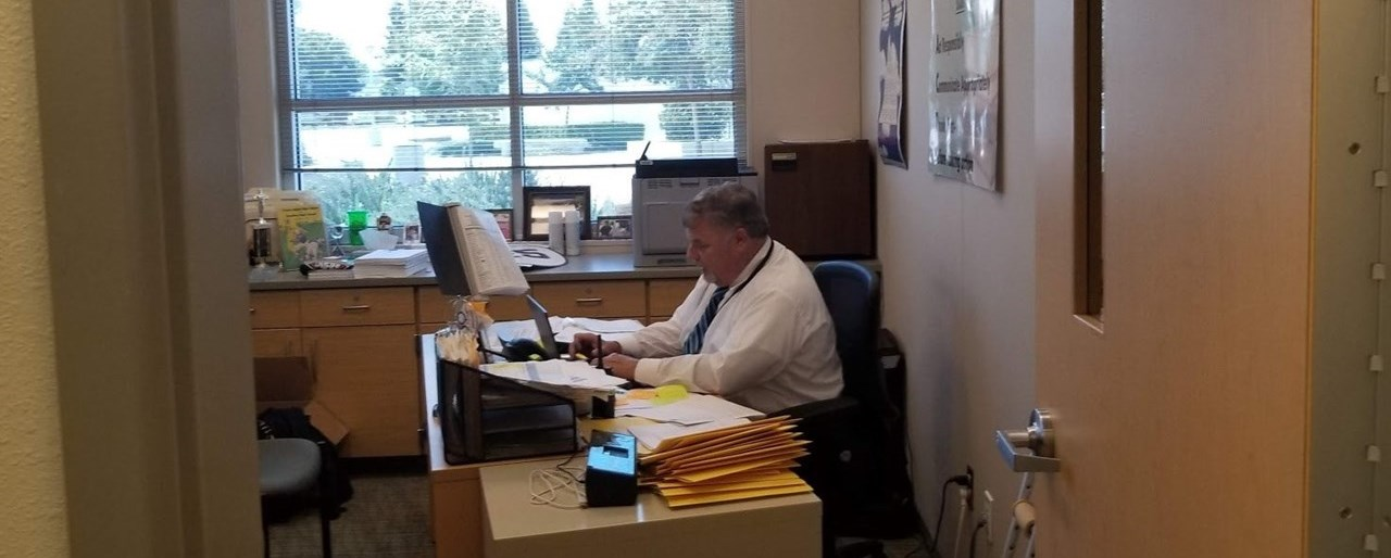 Principal Hard At Work